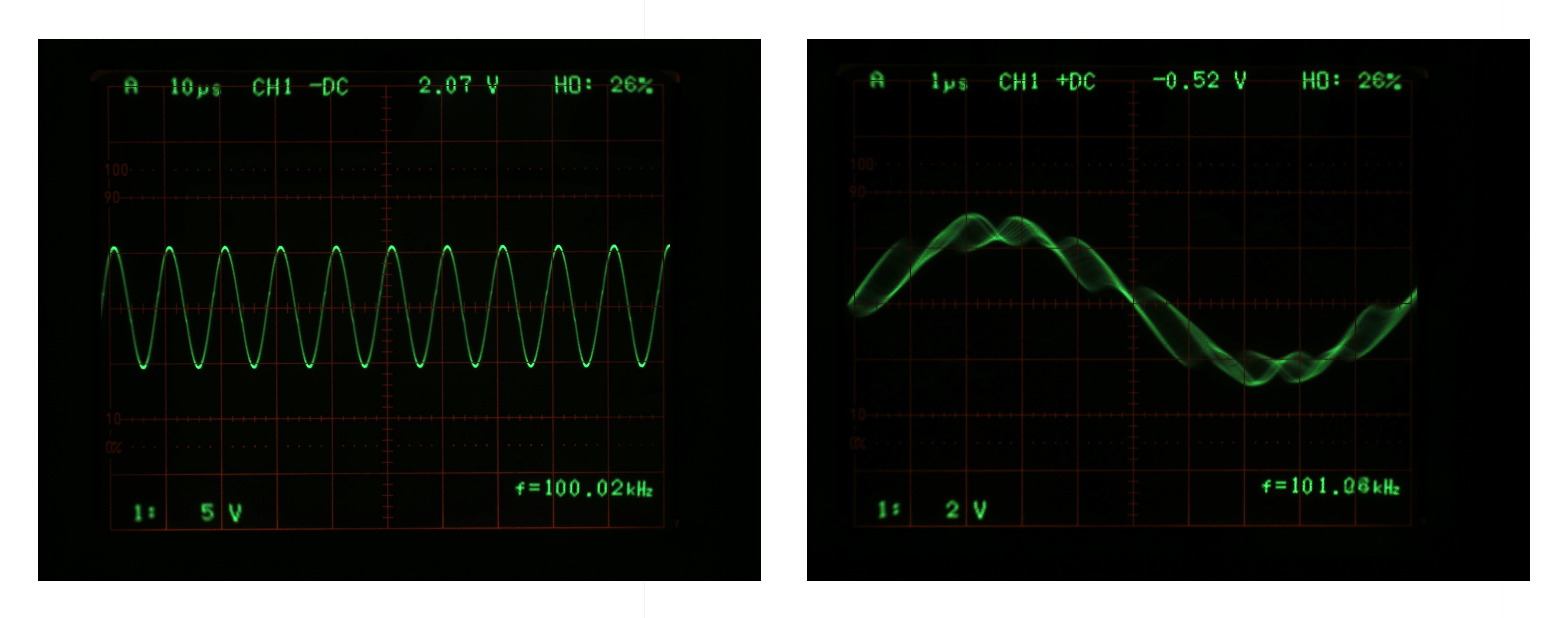 100kHz 正弦波測試