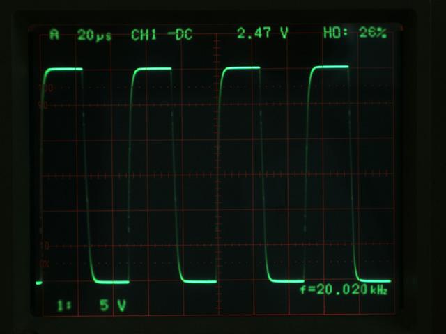 30V p-p 方波測試